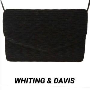VINTAGE WHITING & DAVIS Lil Black Bag